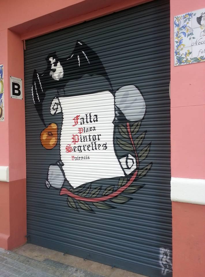 Falla plaza pintor Segrelles, Valencia.