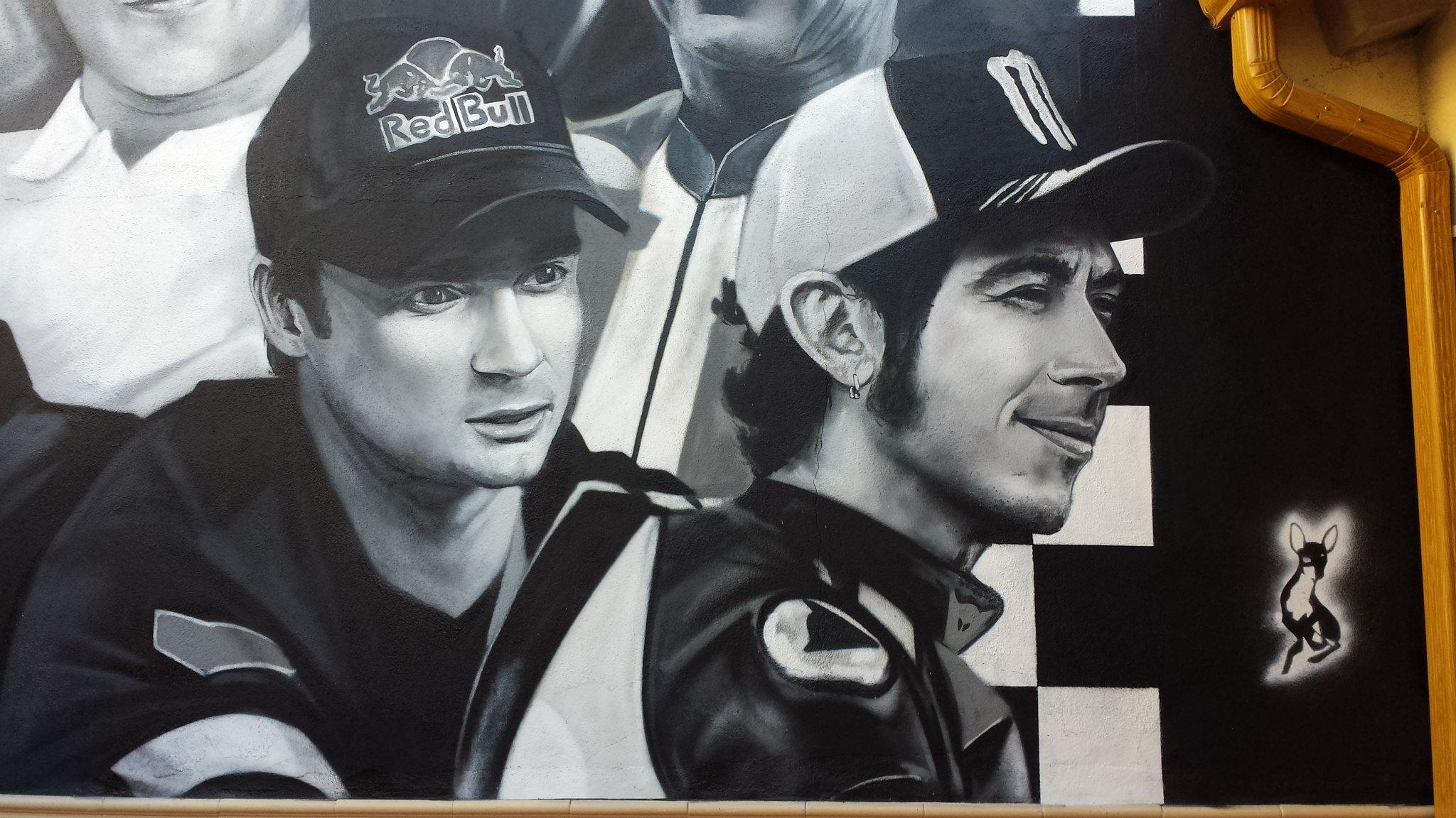 Mural motociclismo.