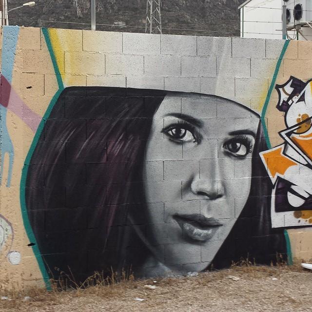 Cocinera de graffitis.