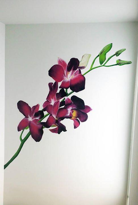 Decoración interior, motivo floral.