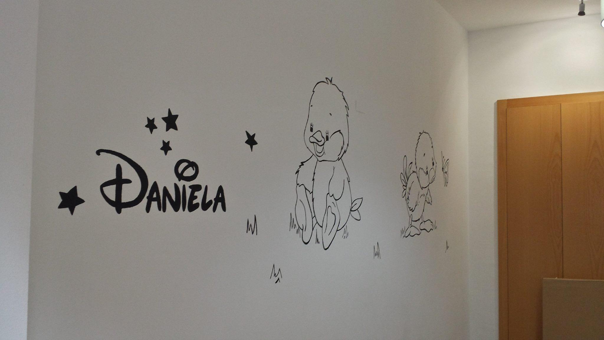 Decoración habitación para un bebé.